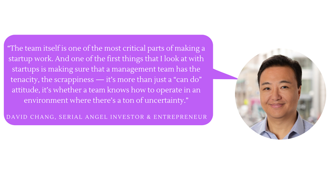 """The team itself is one of the most critical parts of making a startup work,"" David Chang"