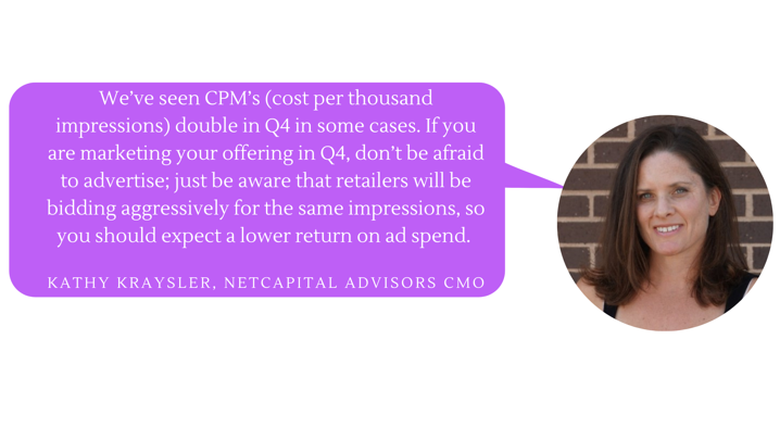 Quote from Kathy Kraysler on marketing in Q4