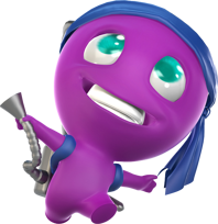 Purple noob character from one of Zelgor's mobile games