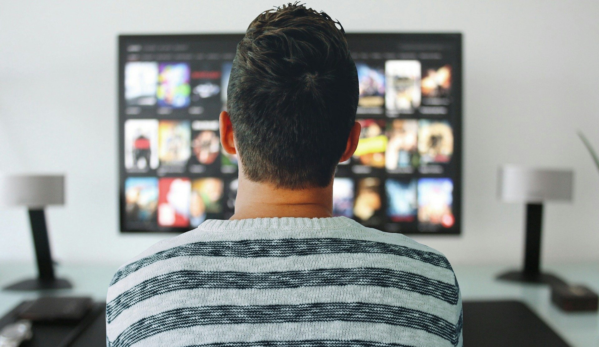 Man watching a streaming service